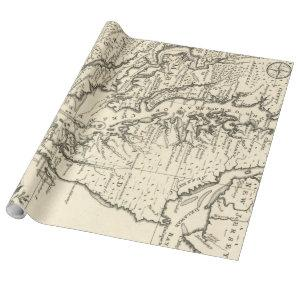 Vintage Map of The Chesapeake Bay (1752) Wrapping Paper