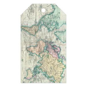 Vintage Map of The World (1801) Gift Tags