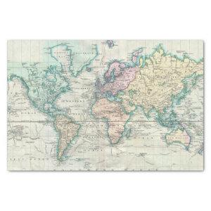 Vintage Map of The World (1801) Tissue Paper