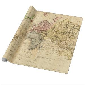 Vintage Map of The World (1831) Wrapping Paper