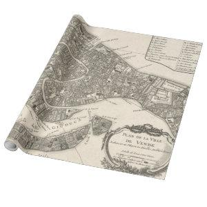 Vintage Map of Venice Italy (1764) Wrapping Paper