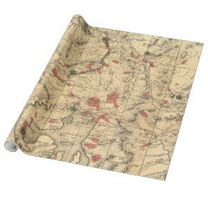 Vintage Map of Yellowstone National Park (1881) Wrapping Paper