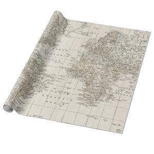 Vintage Map Wrapping Paper