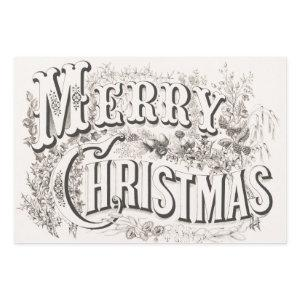 Vintage Merry Christmas lithograph (1876) Wrapping Paper Sheets