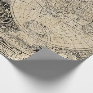 Vintage Old World Map Wrapping Paper