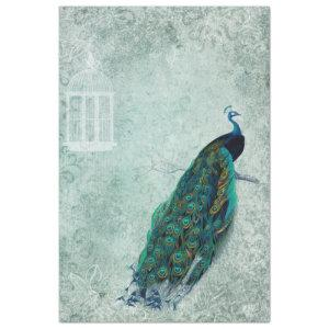 Vintage Peacock 18lb Tissue Craft Paper