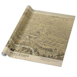 Vintage Pictorial Map of Fort Worth Texas (1876) Wrapping Paper