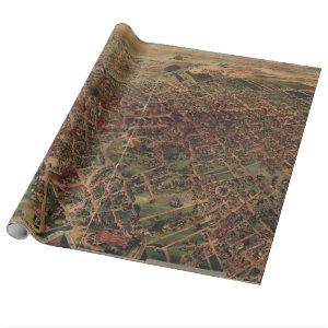 Vintage Pictorial Map of Los Angeles (1891) Wrapping Paper