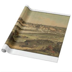 Vintage Pictorial Map of St. Paul Minnesota (1874) Wrapping Paper