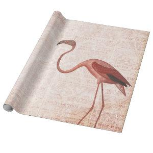 Vintage Pink Flamingo Wrapping Paper