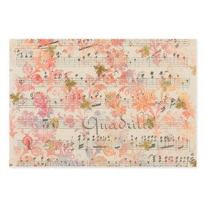 Vintage Pink Flower Music Honey Bee Wrapping Paper Sheets