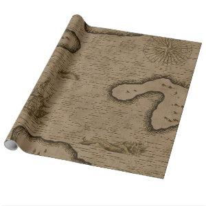 Vintage Pirate Treasure Map Wrapping Paper