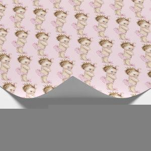 Vintage Princess Baby Shower Wrapping Paper