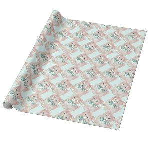 Vintage/Retro Pink Kitten Wrapping Paper