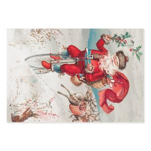 Vintage Santa Claus with reindeer and a rabbit Wrapping Paper Sheets