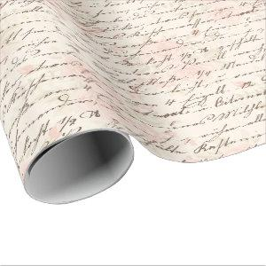 Vintage Script Wrapping Paper