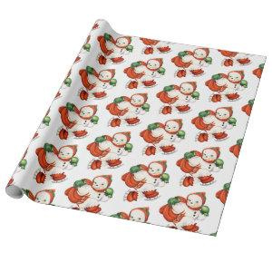 Vintage Snowman Wrapping Paper