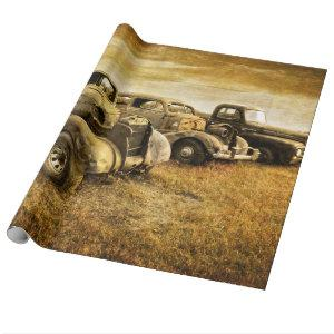 Vintage Vehicles Wrapping Paper