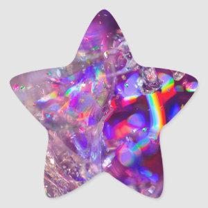 Violet 16th Crystals Purple Pink Rainbow Star Sticker