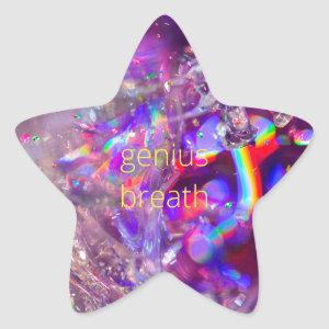 Violet Crystals Purple Pink Rainbow Holograph Star Sticker