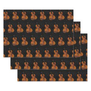 Violin Pattern Wrapping Paper Set