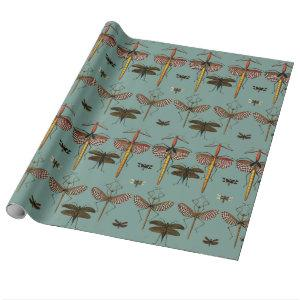Walking sticks, Katydids and Dragonflies Wrapping Paper