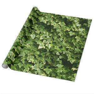 Wall of Ivy Leaves Wrapping Paper