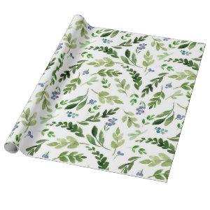 Watercolor Botanical Wrapping Paper