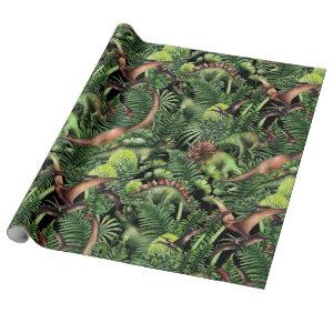 Watercolor Dinosaurs Wrapping Paper