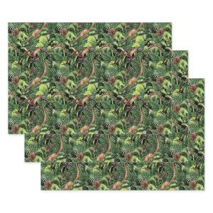 Watercolor Dinosaurs Wrapping Paper Sheet Set