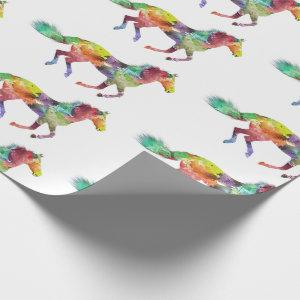 Watercolor Horse Wrapping Paper