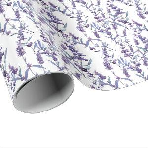 watercolor lavender floral background wrapping paper