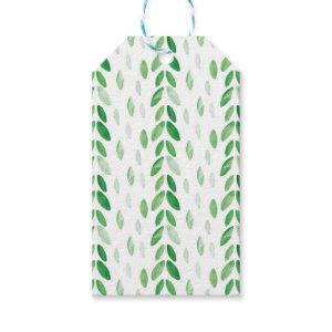 watercolor leaves gift tags