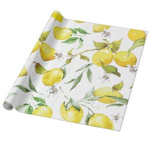 Watercolor lemon III Wrapping Paper
