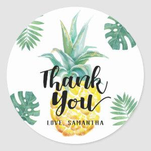 Watercolor Pineapple Thank You Sticker