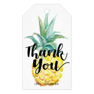 Watercolor Pineapple Thank You Tag