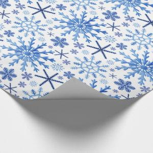 Watercolor Snowflakes Wrapping Paper