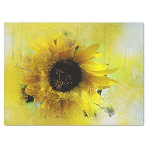 Watercolor Sunflower Decoupage Tissue Paper
