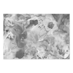 Watercolor Textured Painting Black White Gray Wrapping Paper Sheets