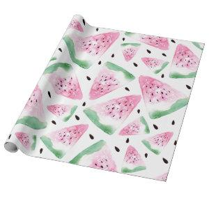Watercolor Watermelon Wrapping Paper