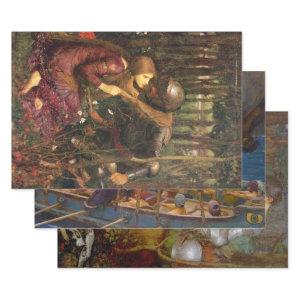 WATERHOUSE FEMME FATALE PAINTINGS DECOUPAGE WRAPPING PAPER SHEETS