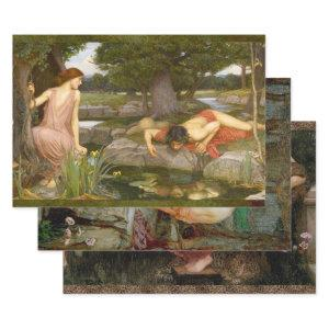 WATERHOUSE MYTHOLOGY PAINTINGS DECOUPAGE WRAPPING PAPER SHEETS