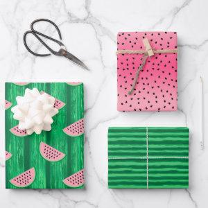 Watermelon Summer Birthday Party Wrapping Paper Sheets