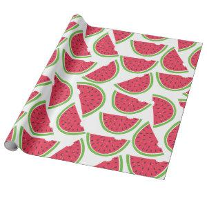 Watermelon Tropical Summer Fruit Pattern Wrapping Paper