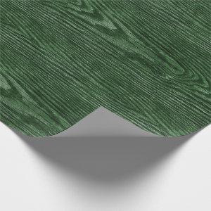Weathered Wood Texture Hunter green Wrapping Paper