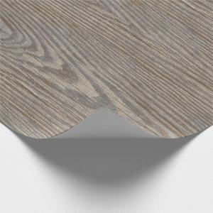 Weathered Wood Texture Wrapping Paper