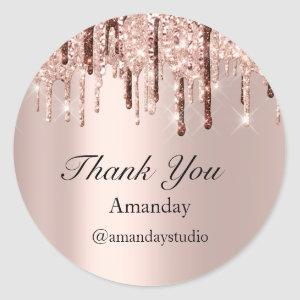 Wedding Bridal Shower Thank You Rose Sweet 16th Classic Round Sticker