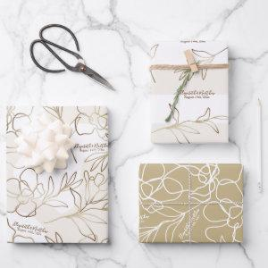 Wedding, Bridal Shower Wrapping Paper Set