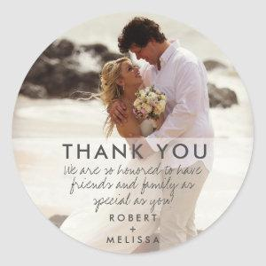Wedding Day Photo Thank You Favor Stickers