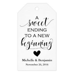 Wedding Favor Tag - Sweet Ending New Beginning
